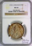 1935-S Arkansas Commemorative Half Dollar NGC MS-66; Mintage 5,506