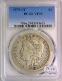 1879-CC Morgan Dollar PCGS VF-25; Nice Original