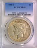 1934-S Peace Dollar PCGS XF-40