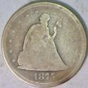1875-S Twenty Cent; G