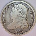 1833 Capped Bust Dime; JR-9 Variety; Nice Original F/VG