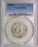 1907-O Barber Quarter PCGS MS-62