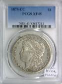 1879-CC Morgan Dollar PCGS XF-45; Nice, Scarce.