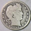 1896-O Barber Quarter; G/AG; Scarce!