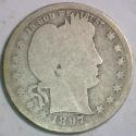 1897-S Barber Quarter; G/Fair; Scarce!