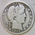 1897-O Barber Quarter; G;  Scarce!