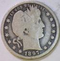 1897-O Barber Quarter; G; Scarce!