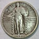 1920 Standing Liberty Quarter; VF+; Choice Original!