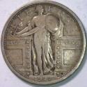 1917 Type 1 Standing Liberty Quarter; VF; Choice Original