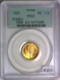 1926  Sesquicentennial $2.50 Gold Commemorative PCGS MS-62; Old Green Holder