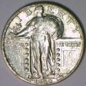 1930-S Standing Liberty Quarter; Choice AU