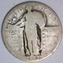 1927-S Standing Liberty Quarter; G-; Just Honest Wear; Key Date!