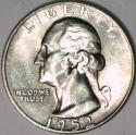 1952-S Washington Quarter; Gem BU