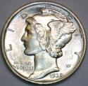 1935 Mercury Dime; Full Bands; Gem BU