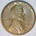 1917-D Lincoln Cent; Nice AU