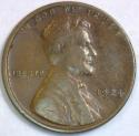 1924-D Lincoln Cent; F-VF