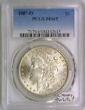 1887-O Morgan Dollar PCGS MS-65; Cream White!