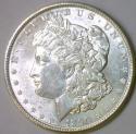 1890 Morgan Dollar; Untoned White BU