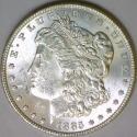 1885 Morgan Dollar; Untoned White BU