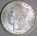1886 Morgan Dollar; Nice White Choice BU