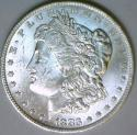 1883-O Morgan Dollar; Nice White BU