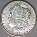 1890 Morgan Dollar;  Choice AU-Unc.