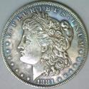 1881 Morgan Dollar; Nice Light Tone; Choice BU