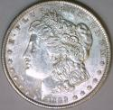1889 Morgan Dollar; Choice AU-Unc.