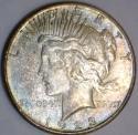 1923-S Peace Dollar; Unc.; Light Original Tone