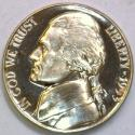 1953 Proof Jefferson NIckel; Gem Proof; Mild Cameo