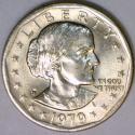 1979-P Near Date, Wide Rim Susan B. Anthony Dollar; Choice BU