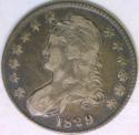 1829 Bust Half Dollar; O-117; Nice VF