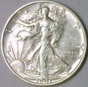 1941-S Walking Liberty Half Dollar; Choice AU+