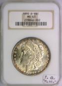 1892-O Morgan Dollar NGC MS-63; Premium Quality;