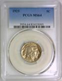 1925 Buffalo Nickel PCGS MS-64; Nice Lustrous Coin!