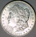 1904-O Morgan Dollar; Untoned White; BU