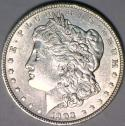 1903 Morgan Dollar; Choice AU-Unc.