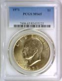 1971 Eisenhower Dollar PCGS MS-65