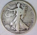 1917-D Obverse Walking Liberty Half Dollar; VG