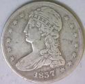 1837 Bust Half Dollar; F; GR-16, R-4