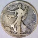 1919-D Walking Liberty Half Dollar; VG