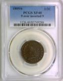 1809/6  9 Over Inverted 9 Half Cent PCGS XF-40