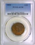 1834 Half Cent PCGS AU-58