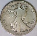 1916 Walking Liberty Half Dollar; VG
