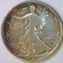 1916-D Walking Liberty Half Dollar; Polished VG