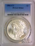 1882-CC Morgan Dollar PCGS MS-64; Premium Quality White