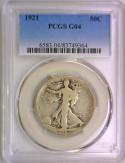 1921 Walking Liberty Half Dollar PCGS-G-4; Nice Original!