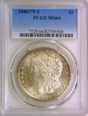 1880/79-S Morgan Dollar PCGS MS-64