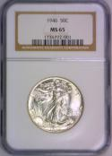 1946 Walking Liberty Half Dollar NGC MS-65