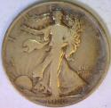 1920-D Walking Liberty Half Dollar; VG+; Scarce!